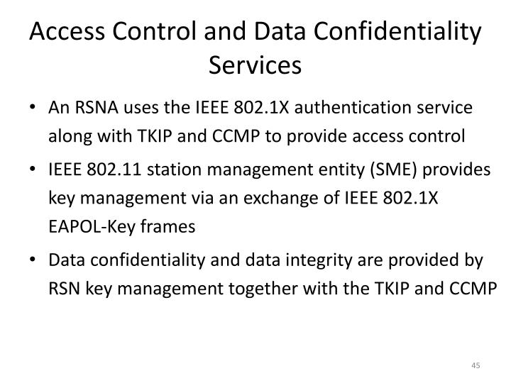Access Control and Data Confidentiality Services
