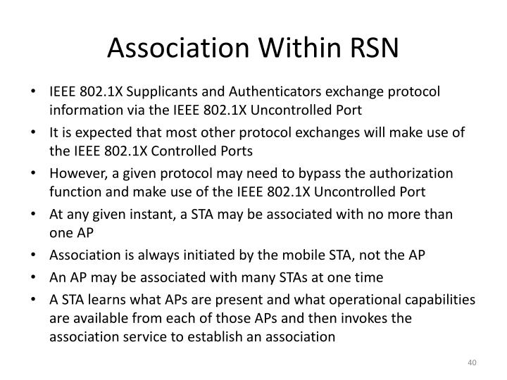 Association Within RSN
