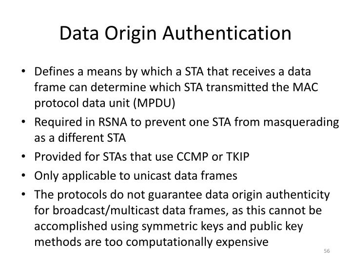 Data Origin Authentication