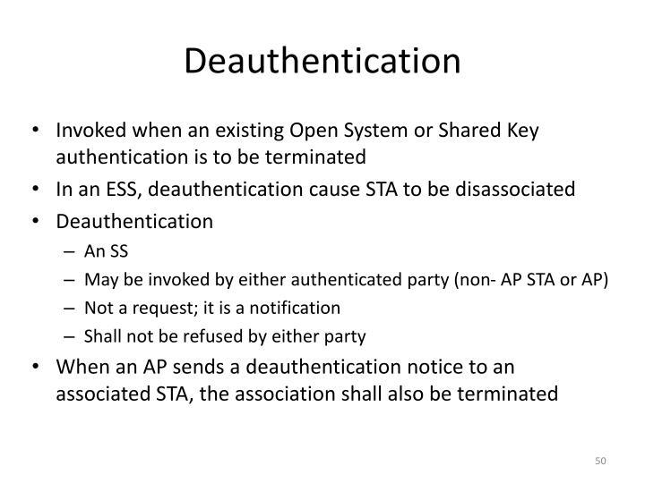 Deauthentication