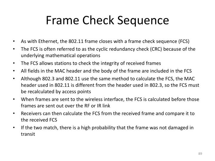 Frame Check Sequence