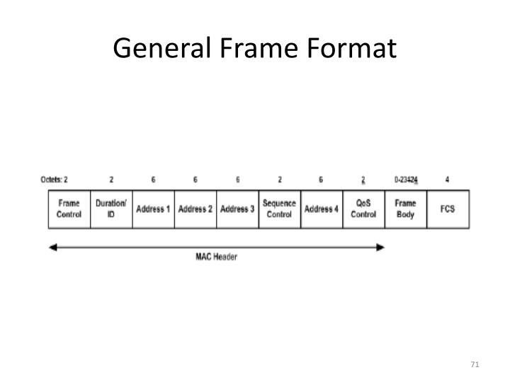 General Frame Format