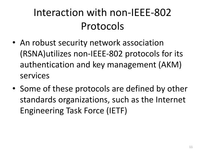 Interaction with non-IEEE-802 Protocols