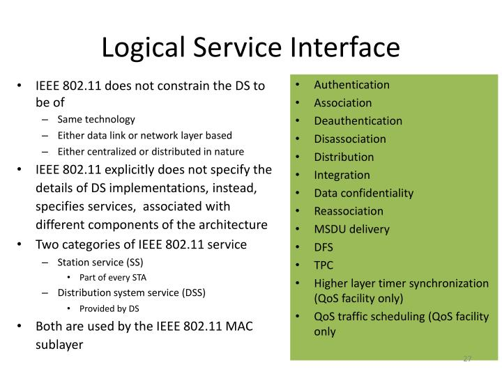 Logical Service Interface