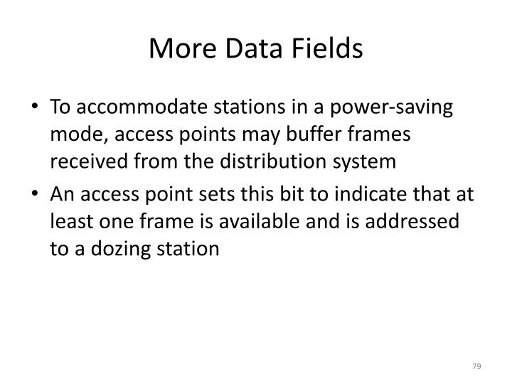 More Data Fields