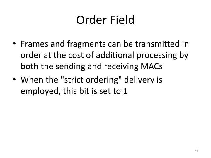 Order Field