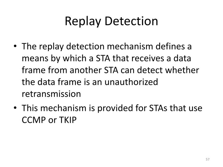 Replay Detection