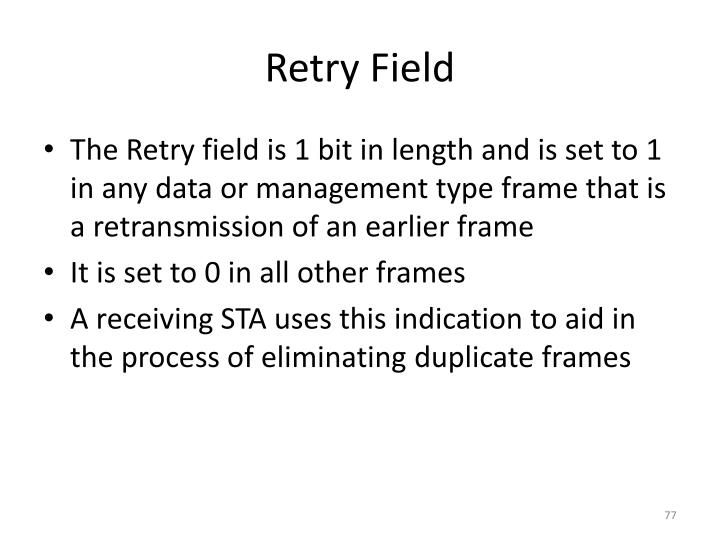 Retry Field