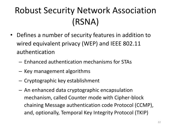 Robust Security Network Association (RSNA)