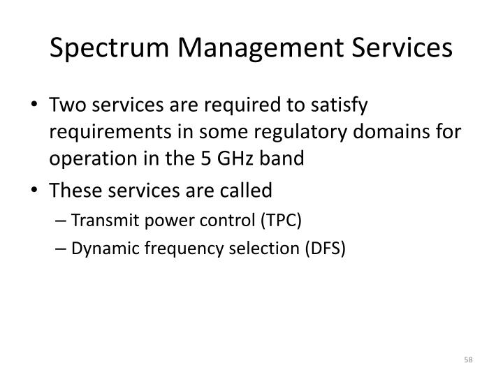 Spectrum Management Services