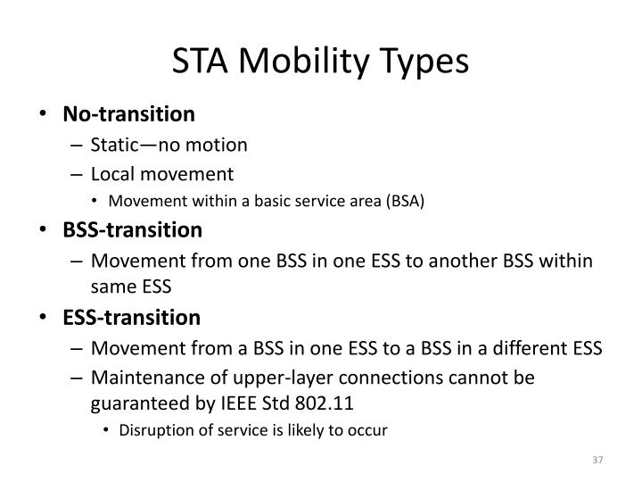 STA Mobility Types