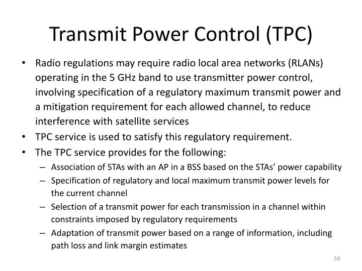 Transmit Power Control (TPC)
