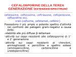 cefalosporine della terza generazione extended spectrum