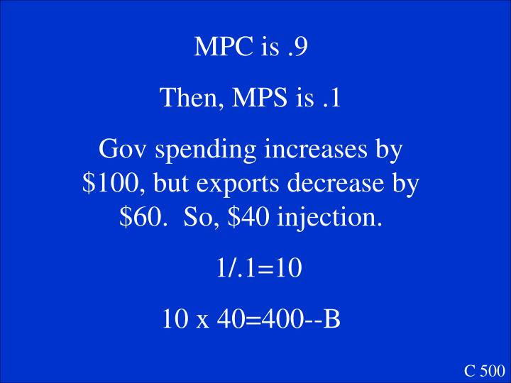 MPC is .9