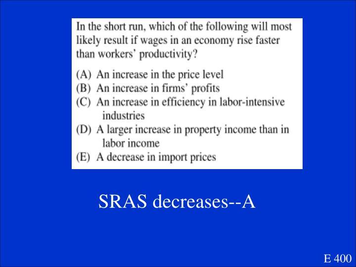 SRAS decreases--A