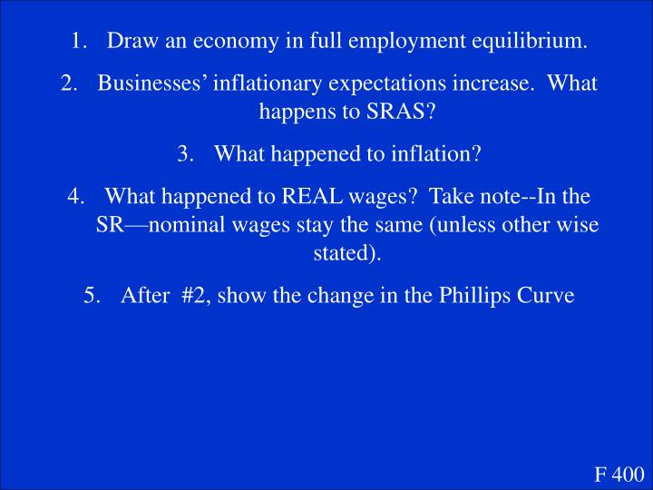 Draw an economy in full employment equilibrium.