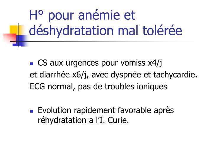 CS aux urgences pour vomiss x4/j