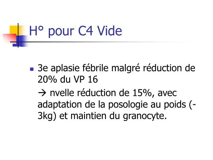 H° pour C4 Vide