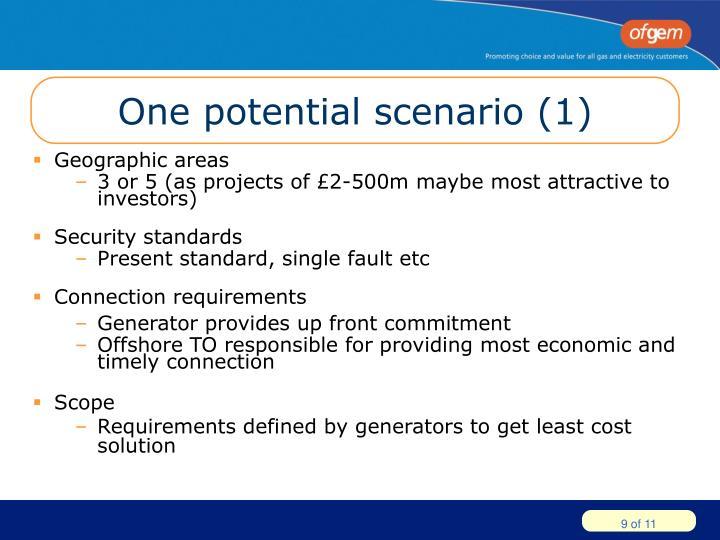 One potential scenario (1)
