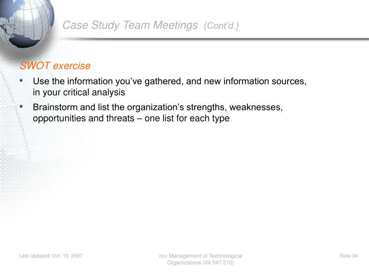 SWOT exercise