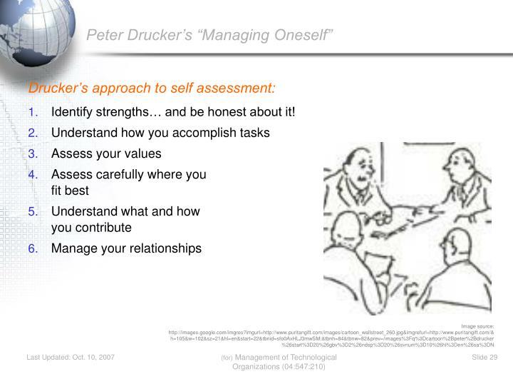 """Peter Drucker's """"Managing Oneself"""""""