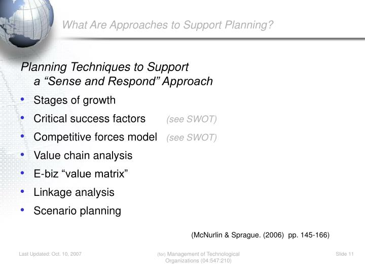 What Are Approaches to Support Planning?