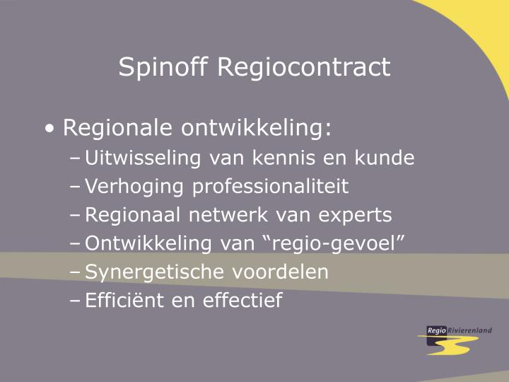 Spinoff Regiocontract