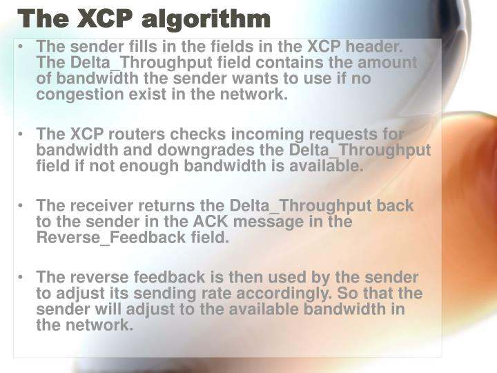 The XCP algorithm