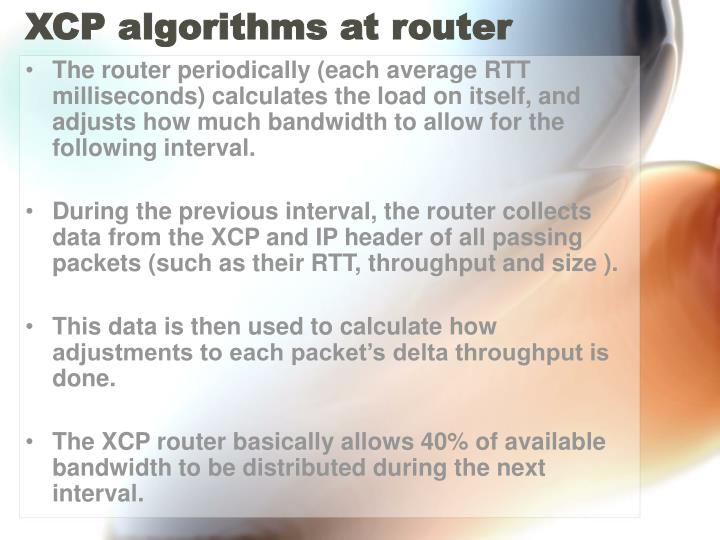 XCP algorithms at router