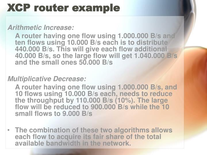 XCP router example
