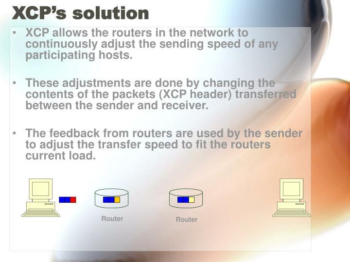XCP's solution