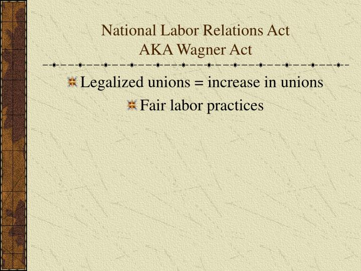 the purpose of the labor relations act The national labor relations board is the supervisory body that manages the formation of unions and prosecutes violations of the national labor relations act under the watch of the nrlb, unionized and non-unionized workers alike are guaranteed federal protections to demand better wages and conditions.