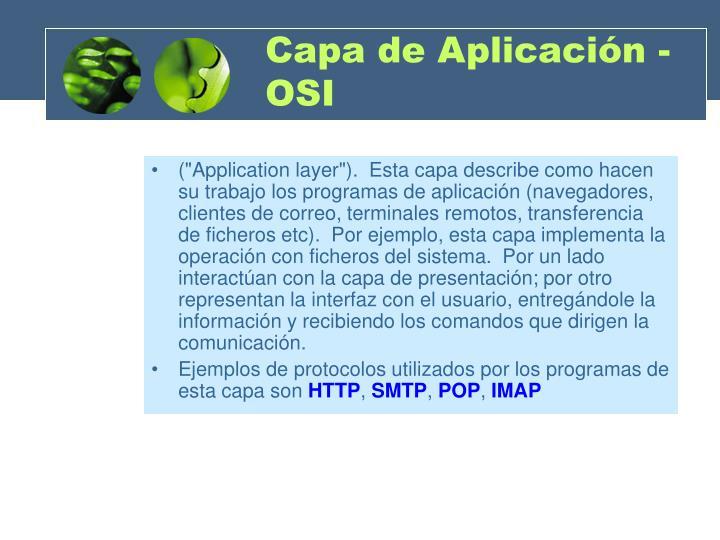 Capa de Aplicación - OSI