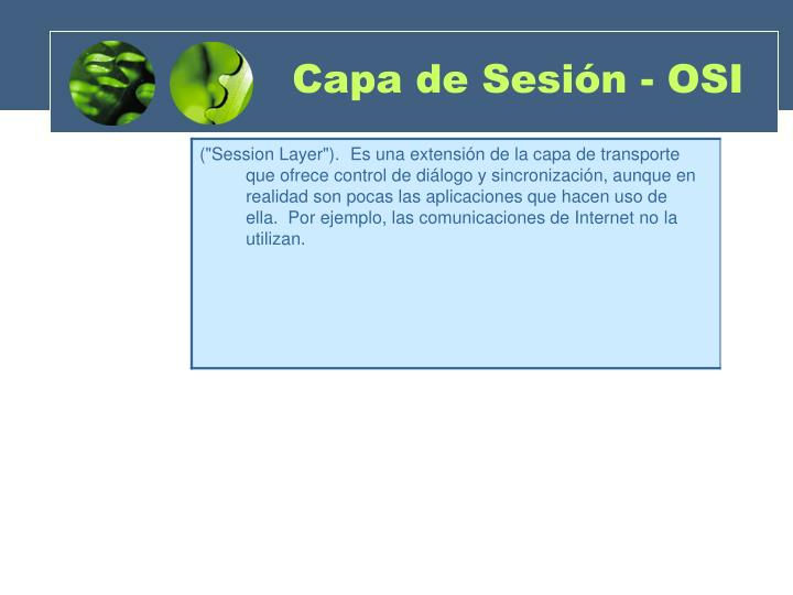 Capa de Sesión - OSI