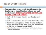 rough draft timeline