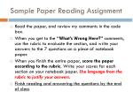 sample paper reading assignment