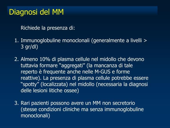 Diagnosi del MM