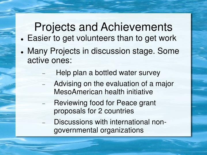 Projects and Achievements
