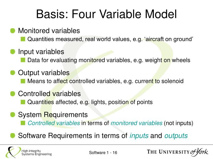 Basis: Four Variable Model