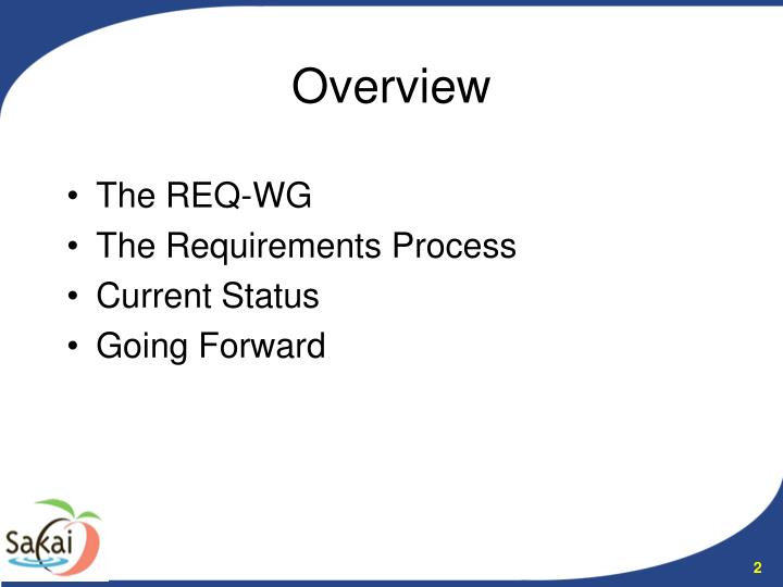 The REQ-WG