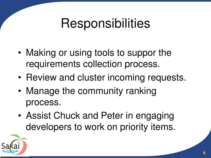 Making or using tools to suppor the requirements collection process.