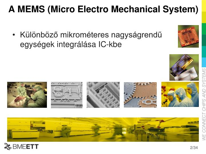 A mems micro electro mechanical system
