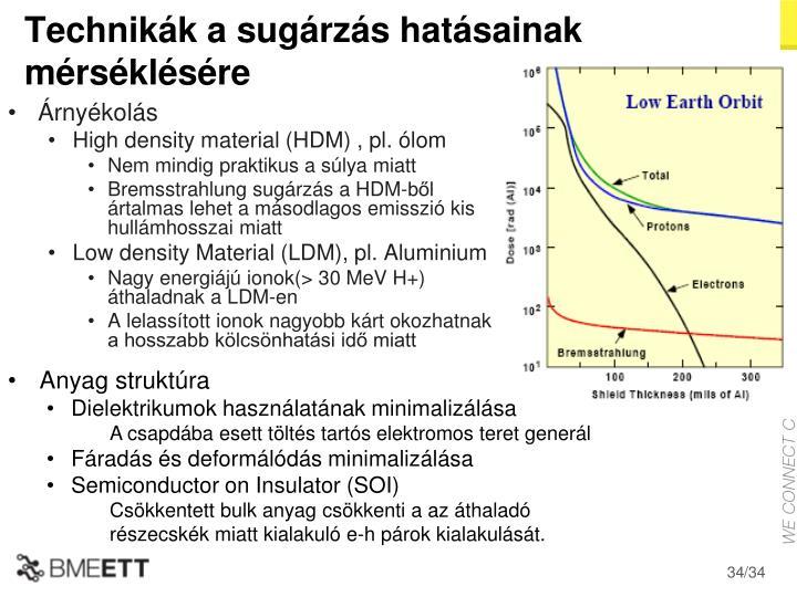 Technikák a sugárzás hatásainak mérséklésére