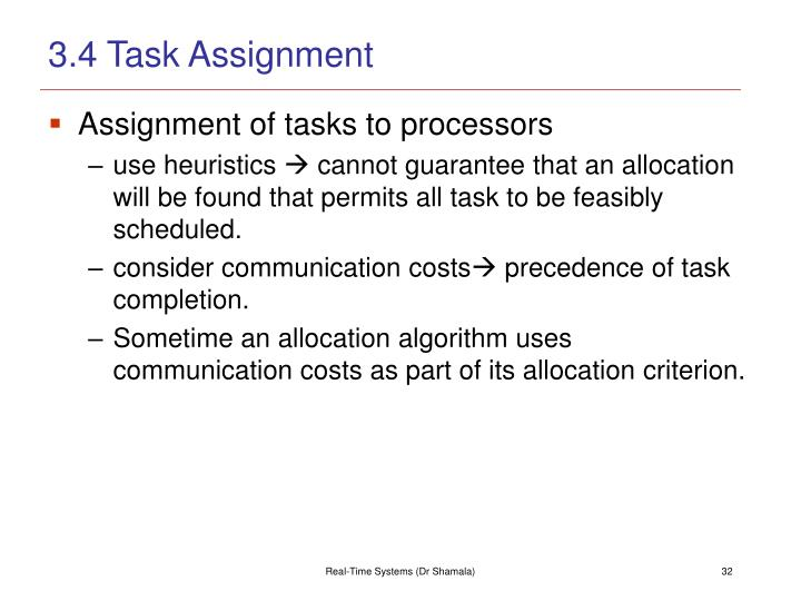 3.4 Task Assignment
