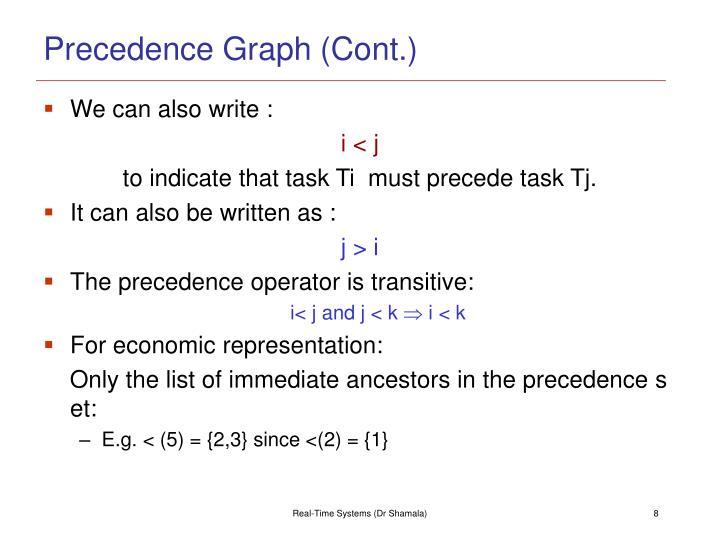 Precedence Graph (Cont.)