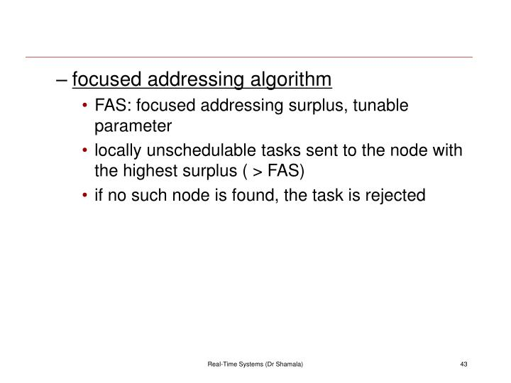 focused addressing algorithm