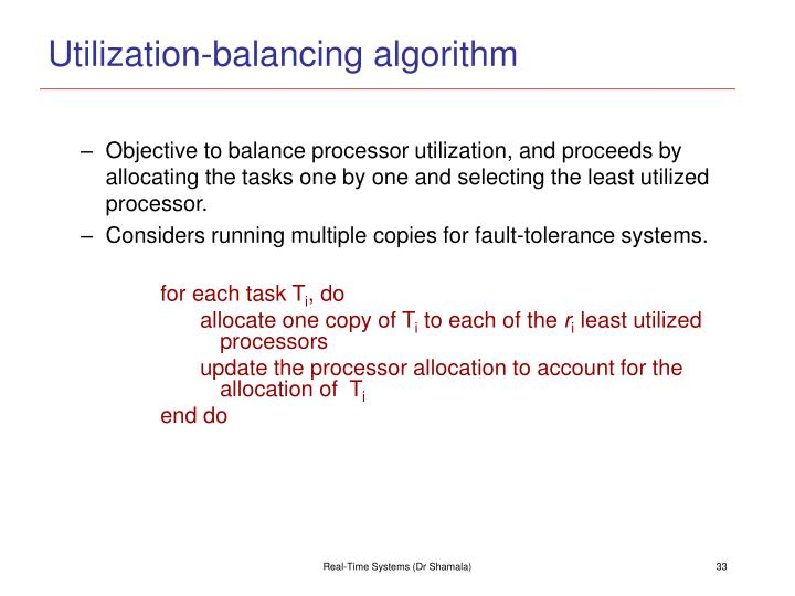 Utilization-balancing algorithm