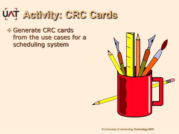Activity: CRC Cards