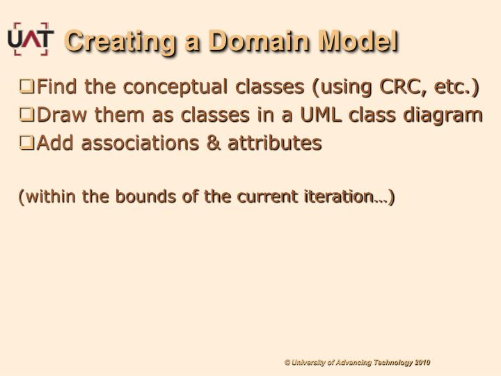 Creating a Domain Model