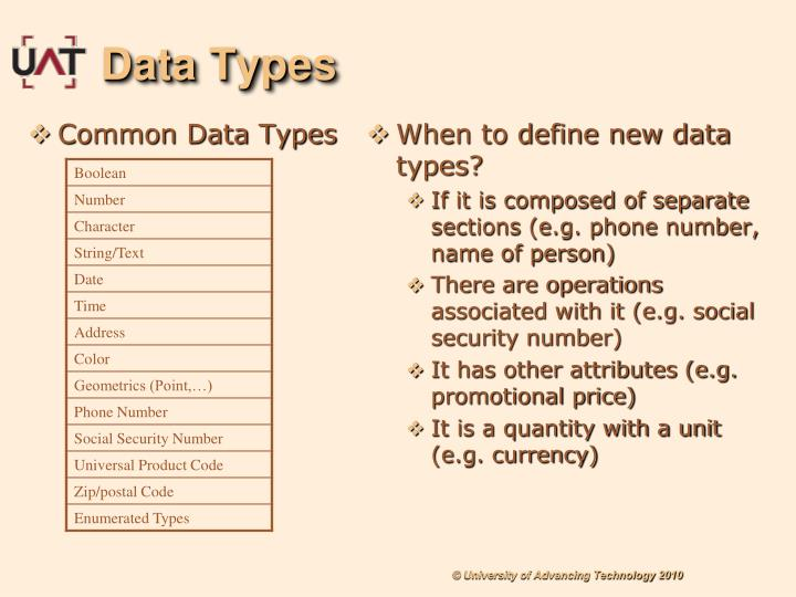Common Data Types